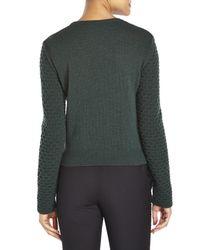 Cedric Charlier - Green Textured Jacquard Sweater - Lyst