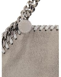 Stella McCartney Gray Falabella Fold-Over Shopper Bag