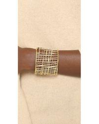 Marc By Marc Jacobs - Metallic Scribble Cuff Metal Bracelet - Oro - Lyst