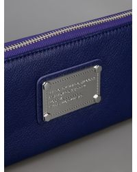 Marc By Marc Jacobs Blue Plaque Detail Purse