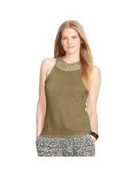 Ralph Lauren | Green Crocheted Cotton Tank | Lyst