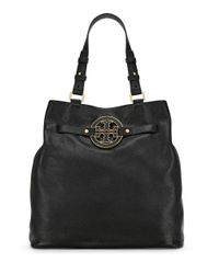 Tory Burch Black Amanda Tall Tote