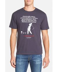Red Jacket - Blue 'caddyshack - Cinderella Story' Graphic T-shirt for Men - Lyst