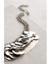 Anthropologie | Metallic Shilling Bib Necklace | Lyst