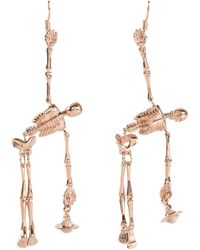 Vivienne Westwood | Metallic 'skeleton' Drop Earrings for Men | Lyst