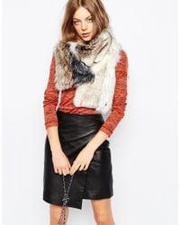 Urbancode - Multicolor Vesta Patchwork Faux Fur Scarf - Lyst