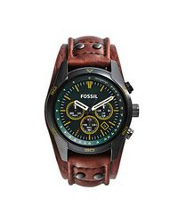 Fossil Green Coachman Leather Mens Casual Watch for men