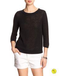 Banana Republic   Black Factory Linen/cotton Open-back Sweater   Lyst