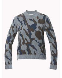 Veronica Beard Green Rancho Hooded Sweater