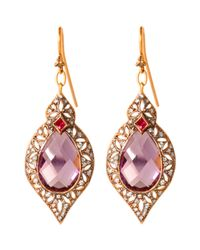 Cathy Waterman | Pink Arabesque Drop Earrings | Lyst