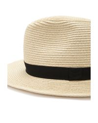 Forever 21 - Natural Straw Ribbon-trimmed Fedora - Lyst