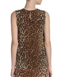 Dolce & Gabbana - Multicolor Leopardprint Tank - Lyst
