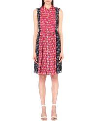 Diane von Furstenberg Red Nieves Silk-blend Shirt Dress