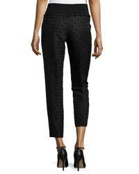 Stella McCartney - Black Geometric Jacquard Ankle Trousers - Lyst