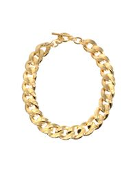 Michael Kors Metallic Halskette Black And Gold