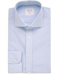 Smyth & Gibson | Blue Striped Cutaway-collar Cotton Shirt for Men | Lyst