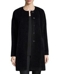 Eileen Fisher - Black Fisher Project Alpaca-blend Cocoon Coat - Lyst
