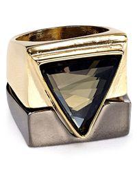 ABS By Allen Schwartz - Metallic Triangle Rings, Set Of 2 - Lyst