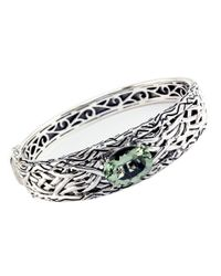 Effy | Balissima Green Amethyst And Sterling Silver Bangle Bracelet | Lyst
