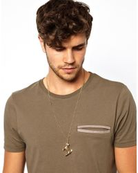 ASOS - Metallic Necklace with Pug for Men - Lyst