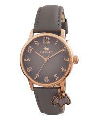 Radley Gray Ry2248 Ladies Grey Leather Strap Dog Charm Watch