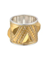 Anna Beck - Metallic Triangle Stud Band Ring - Lyst