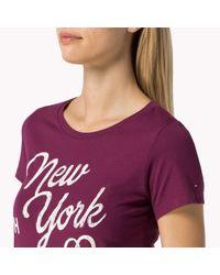 Tommy Hilfiger | Purple Cotton Jersey T-shirt | Lyst