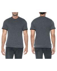 Joe's Jeans Black Caspian Crew Neck Tee for men