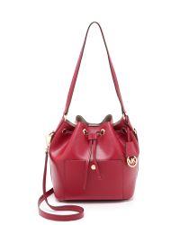 MICHAEL Michael Kors Pink Greenwich Medium Bucket Bag