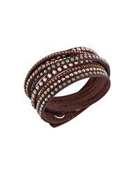 Swarovski | Slake Brown Deluxe Bracelet | Lyst