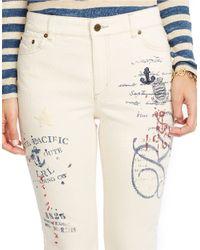 Lauren by Ralph Lauren White Slimming High-rise Jeans