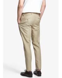 Mango Natural Suit Linen Trousers for men