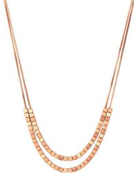 Links of London - Pink Cubist Rose Gold Vermeil Double Necklace - For Women - Lyst