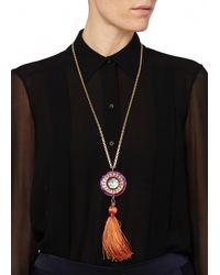Matthew Williamson | Orange Jewelled Pendant Necklace | Lyst