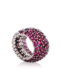 Sidney Garber Pink Ruby Flexible Ring