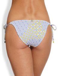 OndadeMar | Blue Essence Sidetie Bikini Bottom | Lyst