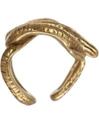 Suzannah Wainhouse Jewelry Metallic Coiled Snake Cage Ring