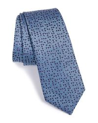 Lanvin | Blue Multi Dot Jacquard Silk Tie for Men | Lyst