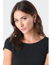 Bebe - Metallic Logo Stud Earring Set - Lyst