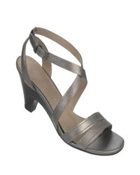 Franco Sarto | Metallic Province Brazilla Leather Heeled Sandals | Lyst