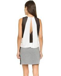 Apres Ramy Brook White Bria Mini Dress - Black/black