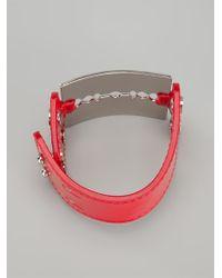McQ - Red Razor Cuff - Lyst