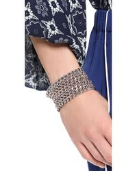 Bex Rox | Metallic Alabama Chain On Chain Bracelet Silver | Lyst
