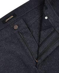 Jaeger Gray Moleskin Five Pocket Trousers for men