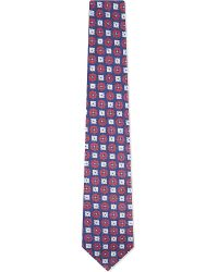 Turnbull & Asser | Blue Ornate Pattern Tie, Men's, Navy Red for Men | Lyst