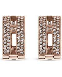 Michael Kors | Pink Brilliance Huggie Pavé Earrings | Lyst