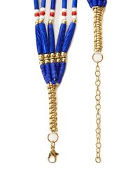 Forever 21 - Blue Beaded Tribalinspired Necklace - Lyst