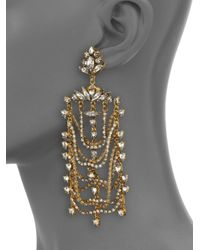 Erickson Beamon - Metallic White Wedding Crystal Draped Drop Earrings - Lyst