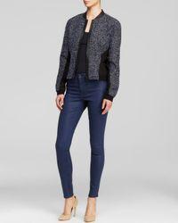 Elie Tahari Black Harla Cotton Lace Jacket