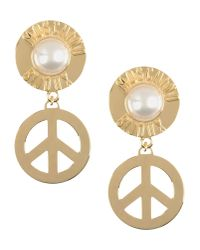 Moschino | Metallic Earrings | Lyst